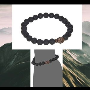 Dee Berkley® Buddha Bracelet with Lava Stone.